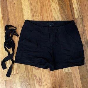 Sanctuary black linen shorts